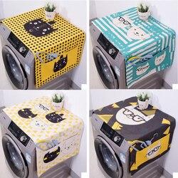 かわいい漫画の猫の動物デュアル目的リネンダストカバー防水キッチン洗濯機冷蔵庫保存袋ポーチ 1 PC -