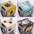 Kawaii Cartoon חתול בעלי החיים מטרה כפולה פשתן אבק כיסוי הוכחת מטבח מכונת כביסה מקרר אחסון שקיות פאוץ 1 PC