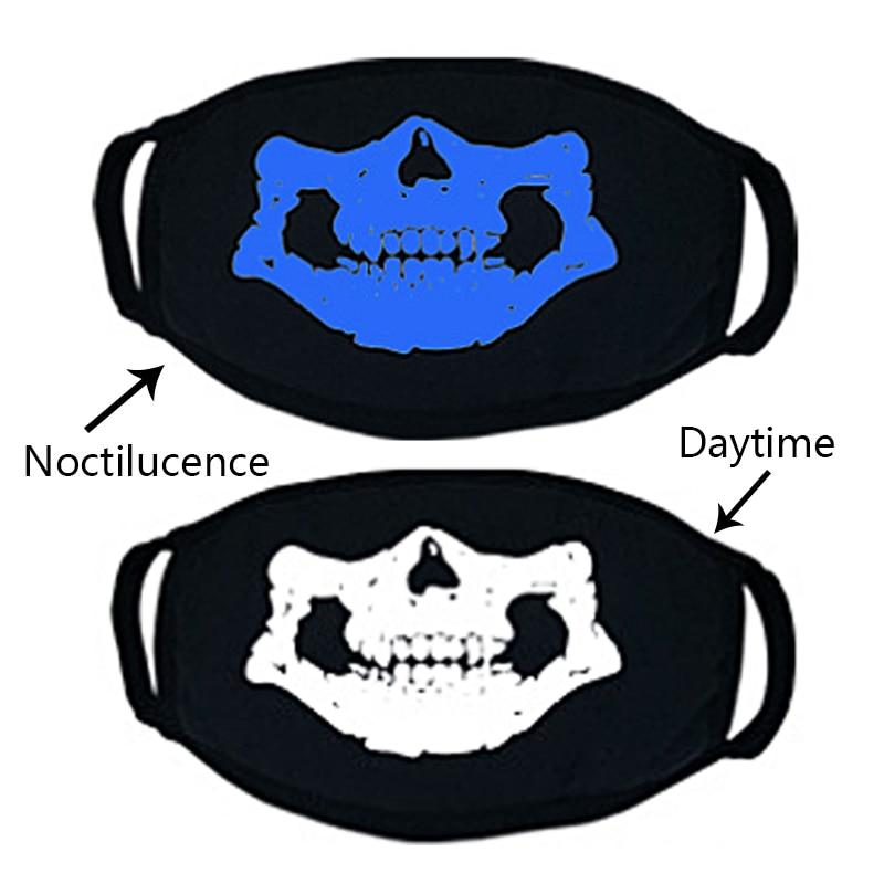 LNRRABC PM2.5 Anti Haze Mask Respirator Health Cycling Luminous Skull Print Mouth Face Mask Anti-dust Women Fashion Face Masks