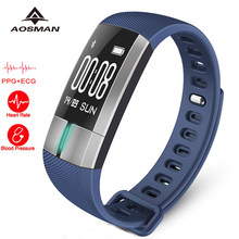 AOSMAN G20 PPG ECG heart rate monitor watch Blood pressure sport Fitness Activity Tracker Pulsometro PK Xiomi mi band 2 5 IOS(China)