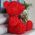 Fancytrader красная Роза плюшевый медведь игрушка хорошее качество большой медведь плюшевая кукла 70 см 28 дюймов для детей взрослые подарки - 3
