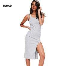 2017 Slipt Ourlet Robe Pull Slim Fit Taille Haute Bretelles De Courroie De Gaine Robes Femmes Robes De Festa Robe Femme T52Y48