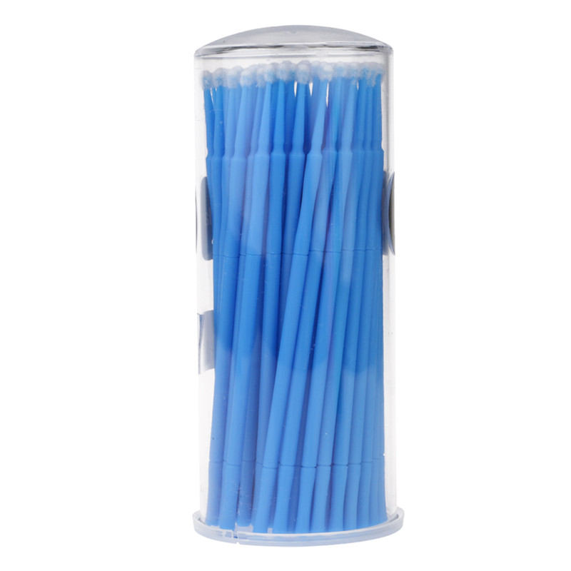 100PCS Eyelash Extension Micro Disposable Swab Individual Applicators Brushes 100 pairs eyelash extension sticker pads