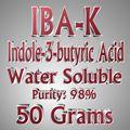 50g de Ácido indol butírico Ácido Indol-3-butírico IBA Rhizotonic Clonex IBA-K agua