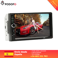 Podofo 2 din Car Radio Car Video Player 7'' Touch Screen Bluetooth FM AUX USB SD Function with steering wheel control