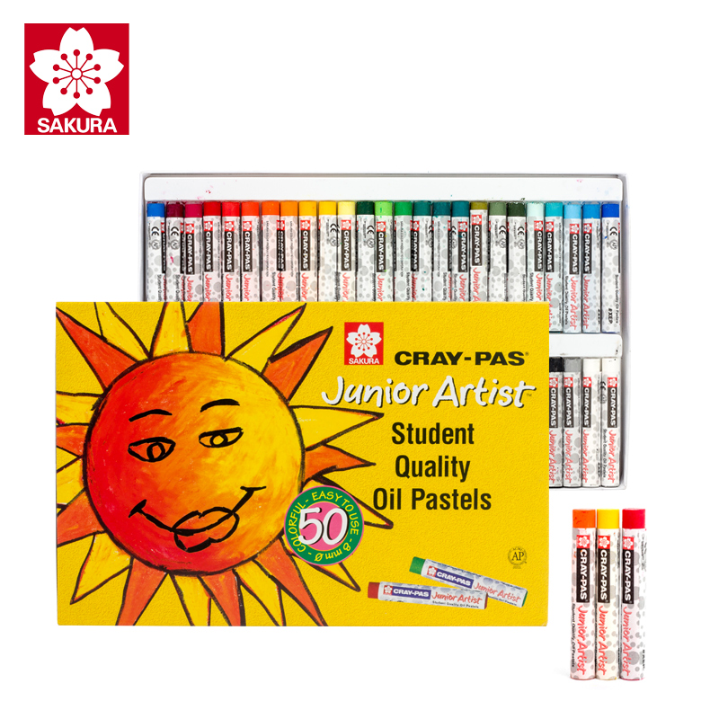 Sakura Oil Pastels XEP-12/16/25/36/50 Cray-pas Painting Stick Soft Crayons for Junior Artist Kids Students sakura sakura xep 50 50 color oil painting bags set art soft crayons