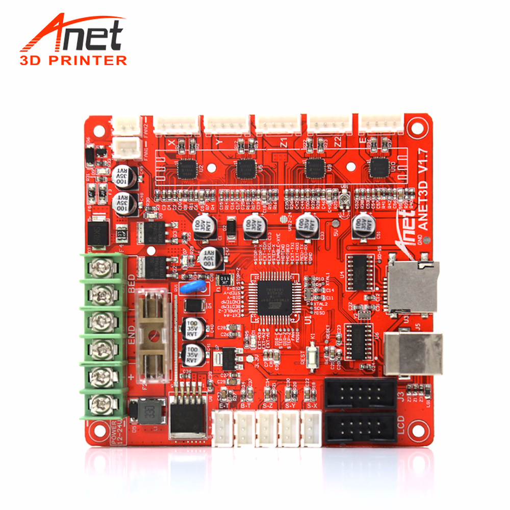 Anet A3 A6 A8 E10 E12 Auto/Normal V1.0/1.5 mainboard control board for RepRap Ramps1.4 2004/12864LCD 3d printer motherboard part 2pcs anet v1 5 motherboard control board 3d printer parts for anet a8