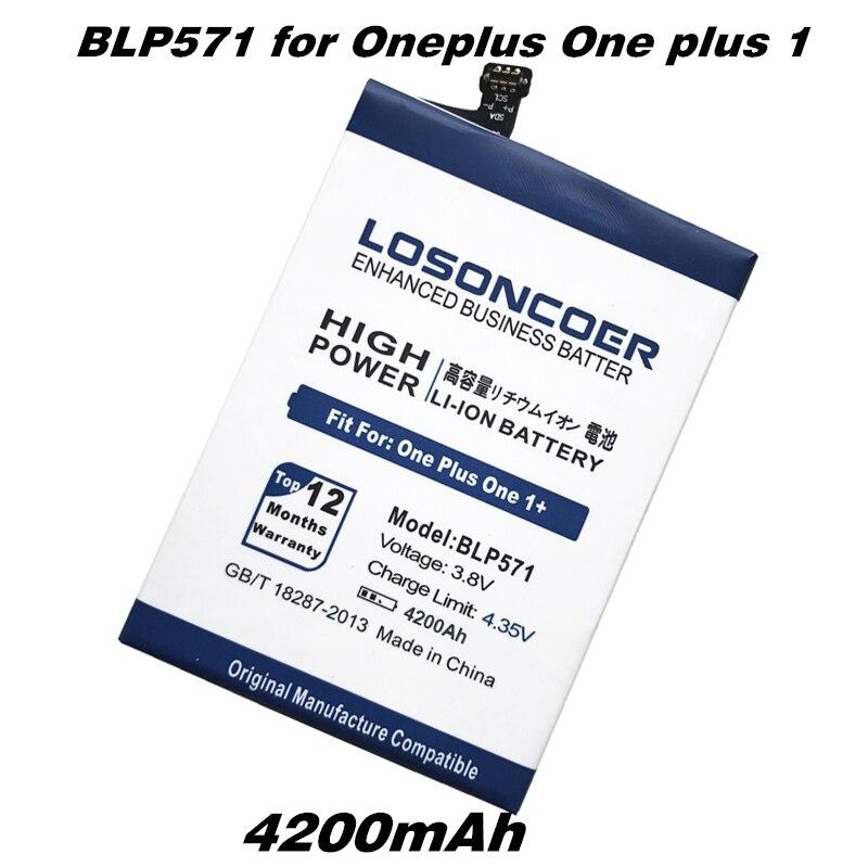 imágenes para 4200 mAh Batería BLP571 LOSONCOER para Oneplus Uno más 1 Batería Para OPPO Oneplus Uno Más 64 GB 16 GB