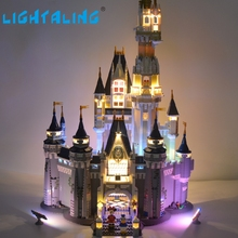 лучшая цена Lightaling LED Set (Only Light Set) For Cinderella Princess Castle Building Model Compatible with 71040
