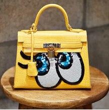 Lock mini bag platinum messenger bag female bag small cartoon bag women's handbag 2015 women's