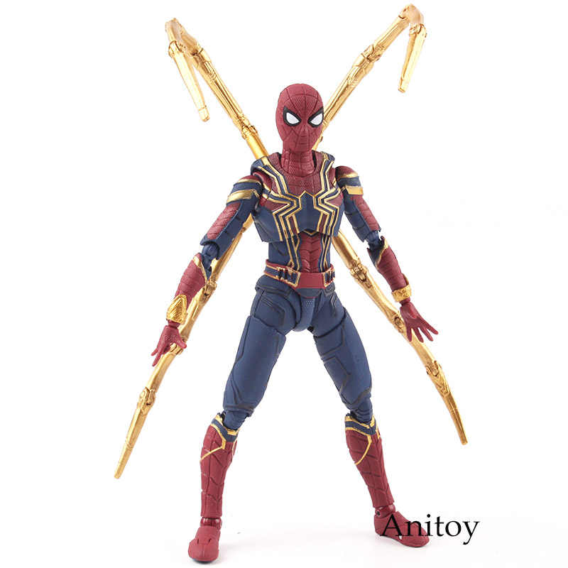 SHF Avengers Infinity Giocattoli di Guerra Iron Spider Toy Spiderman PVC Action Figure Marvel Figurine Da Collezione Toy Model