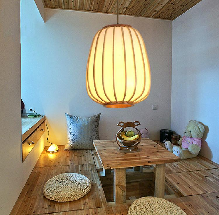 Japanese-style lighting creative living room restaurant aisle light staircase Pendant Lights bambooPendant Lights TA9184 chinese style classical wooden sheepskin pendant light living room lights bedroom lamp restaurant lamp restaurant lights