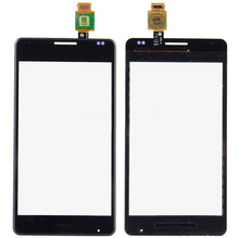 Wholesale 10pcs/lot New Original Touch glass Panel For Sony Xperia E1 D2004 D2005 Touch Screen Digitizer with logo free shipping