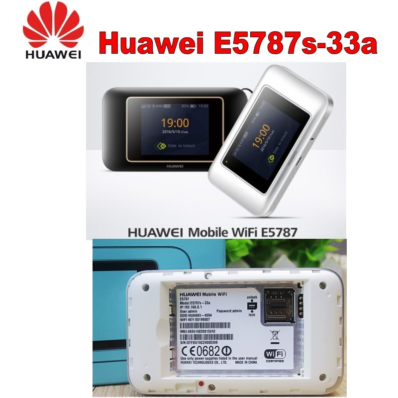 US $180 0 |Unlocked Huawei E5787 LTE Cat6 Mobile WiFi Hotspot 3000mAh  battery LTE Category 6 mobile router 4G Portable Router-in 3G/4G Routers  from