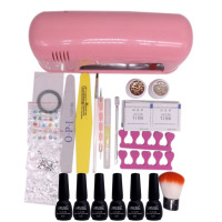 Nail Art Pro DIY Full Set Soak Off Uv Gel Polish Manicure Set Any 4 Colors 9W UV Curing Lamp Kit Set Nail Gel Nail Tools