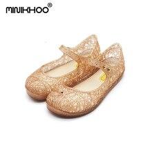 Міні Melissa Crystal взуття Джинсові сандалії 2017 Літні дитячі взуття Дихаючі дитячі сандалі Жалеві дівчата сандалі