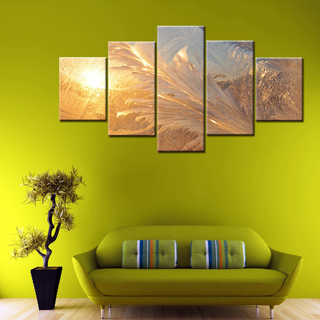 Modular Picture Cuadros Modern Painting Decoration Canvas 5 Panel ...