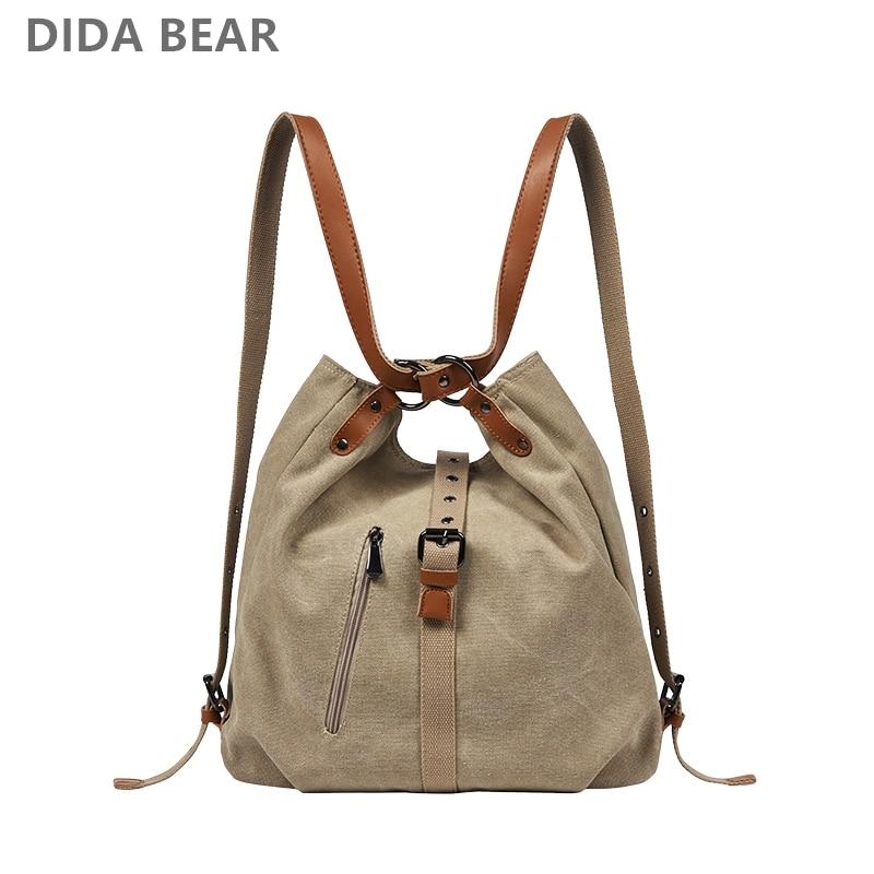 Fashion Canvas Shoulder Bag Women Backpack School B