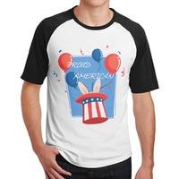Gurur Amerikan Pride Kırmızı Beyaz Mavi Bunny Desen t shirt erkek guys 3/4 Kollu elbise