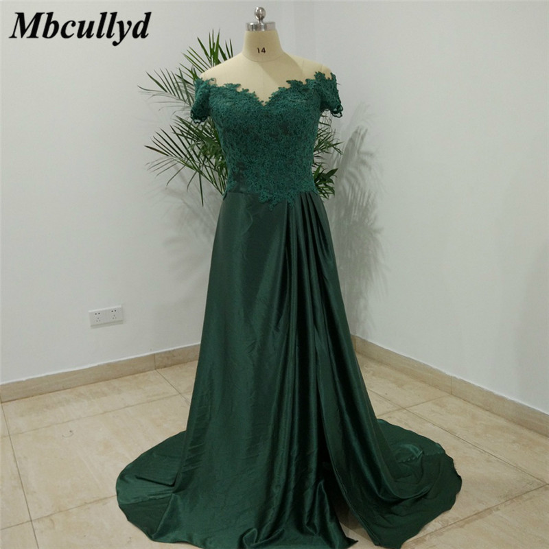 Mbcullyd Dark Green Mother Of The Bride Dresses 2019 Sexy Off Shoulder  Dubai Arabic Long Prom Dress Applique Lace Pageant Gowns-in Mother of the  Bride ... 0a11edc96cce