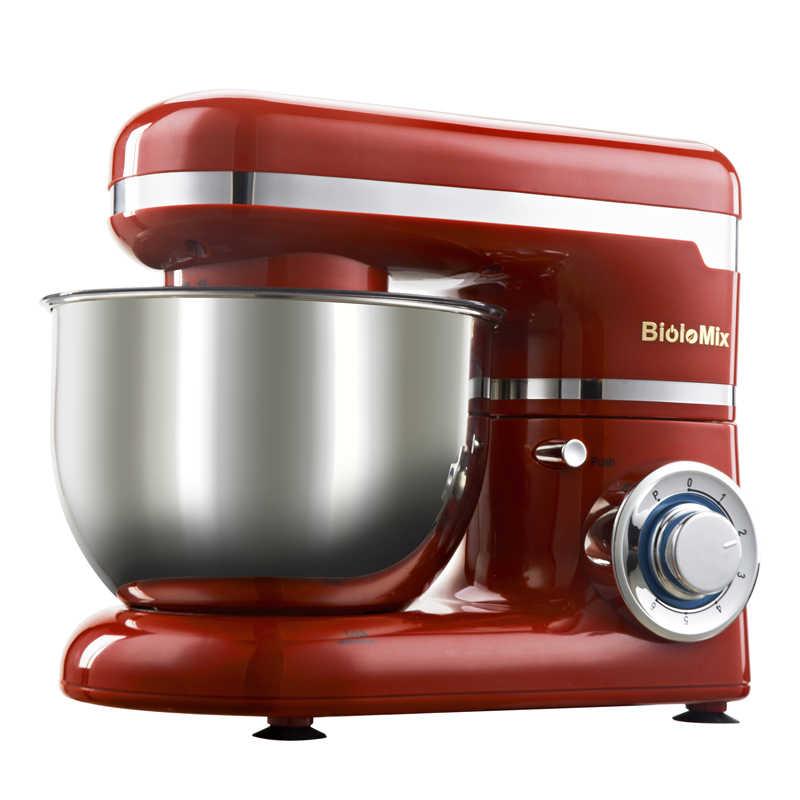 1200 W 4L 6 Tigela de Aço Inoxidável-velocidade De Alimentos Da Cozinha Batedeira o Creme de Ovo Batedor Liquidificador Massa Do Bolo Pão misturador Máquina do Fabricante