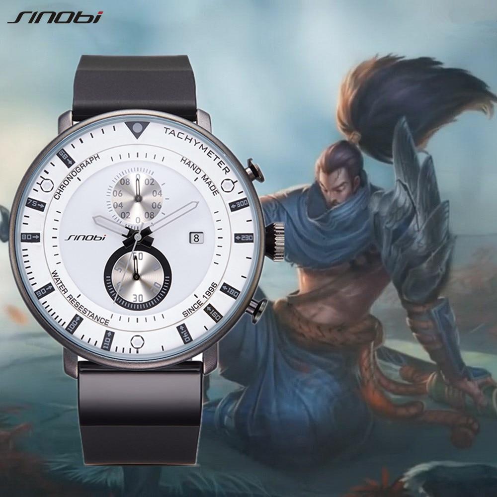 SINOBI New Creative Men Sports Watches Men's Clock Mens Quartz Wirstwatches Top Brand Luxury Waterproof Wrist Relogio Masculino