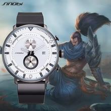 SINOBI New Creative Men Sports Watches Mens Clock Mens Quartz Wirstwatches Top Brand Luxury Waterproof Wrist Relogio Masculino