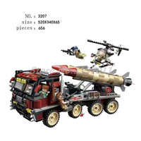 Military War City Series Thunder Mission Building Blocks Army Super Weapon Rocket Car Enlighten Model Toys For Children Gifts