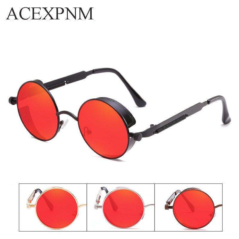 ACEXPNM Round Metal Solglasögon Steampunk Män Dam Mode Glasögon - Kläder tillbehör - Foto 3