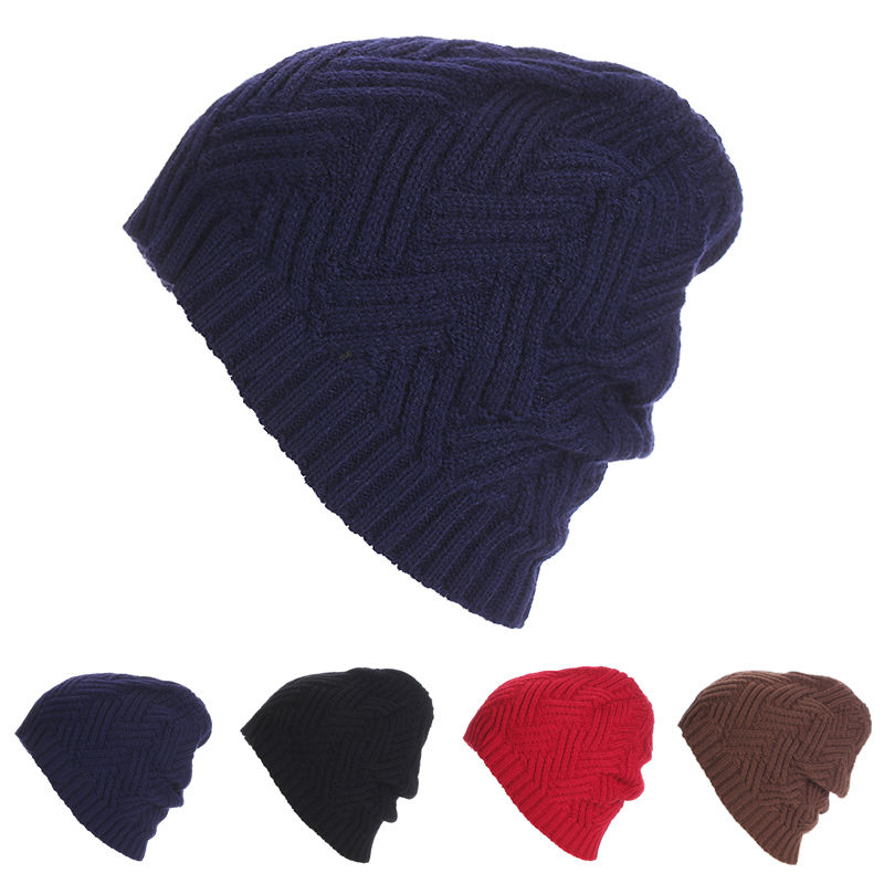 ITFABS New Brand Unisex Men Women Knit Baggy Beanie Winter Hat Ski Slouchy Knitted Causal Cap Soft Warm Skull