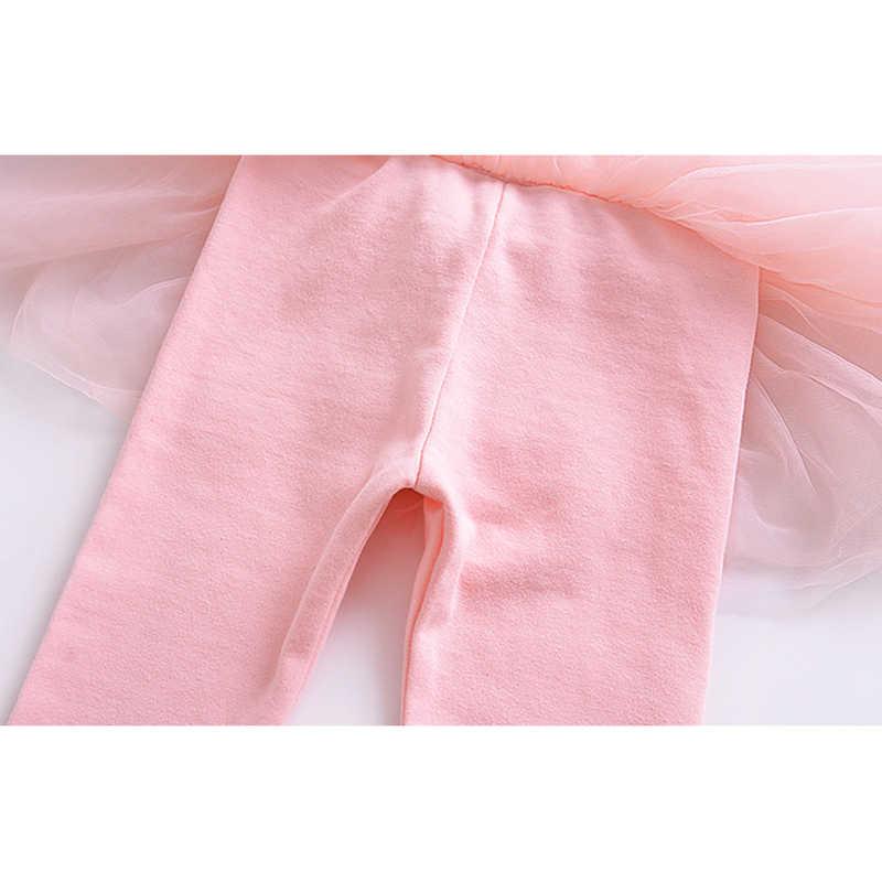 Mode lederen broek voor meisjes leggings mesh jurk ademend kinderen prinses broek kids leuke katoenen bovenkleding trouthers