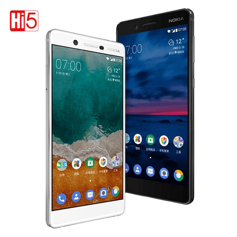 Nokia 7 Original Unlocked Mobile Phone 64G ROM Dual SIM 16.0MP Android 7.1 3000mAh 5.2'' 1080P GSM/WCDMA/LTE Global firmware