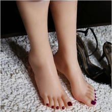 Free Shipping! 1 Pair Realistic Silicone Lifesize Female Mannequin Foot Display For Shoes And Socks Simulation Sex Toys