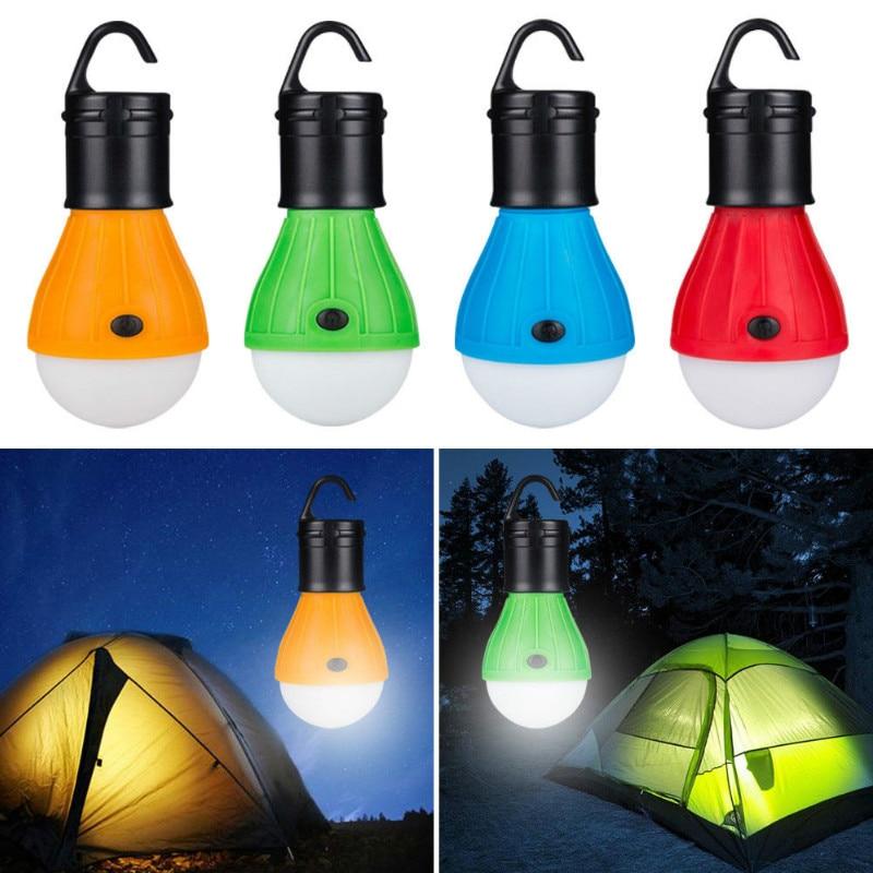 Mini Portable Lantern Tent Light LED Bulb Emergency Lamp Waterproof Outdoor Hanging Hook Flashlight For Camping  Saving Lamp