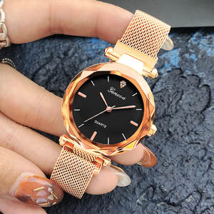 Gold Watches Magnetic-Strap Sky Quartz Waterproof Femme Women New-Fashion Luxury Montre