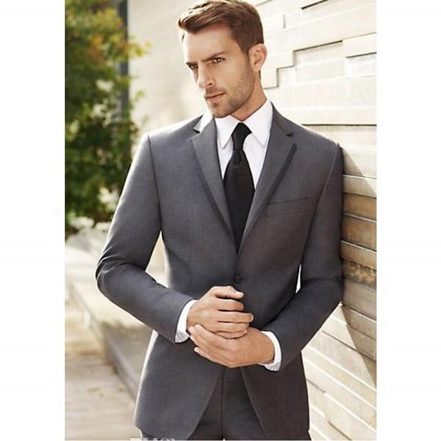 Envío de la Alta Calidad Traje Por Encargo de Dos Piezas Traje de Negocios Hombres (chaqueta + pantalones) para Los Hombres Traje de Boda de La Venta Caliente