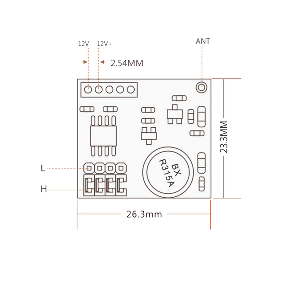 High Stability Pcb Circuit Board Micro 4ch Remote Control Dc9v 12v Rf Transmitter Diagram Wireless Module Transmitting Signal 10pcs Lot In Switches From Lights