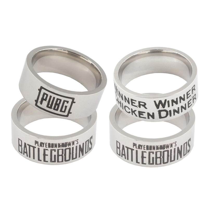 RJ New Punk Playerunknowns Battlegrounds Ring PUBG Survive Series Accessories Chic Ring For Men Women Game Fans Bague Jewelry