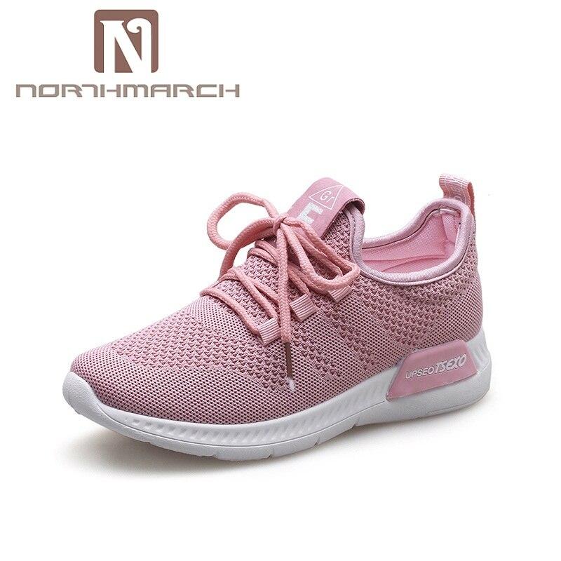 384a821a1e NORTHMARCH Luz Malha Respirável de Calçados Femininos 2019 Nova Moda Tenis  Feminino Sapatos Mulher Rendas Até Sapatos Casuais Das Sapatilhas Das  Mulheres