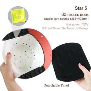 Image 4 - LKE 48W tırnak kurutucu güneş X9 UV lamba 3 zamanlanmış modu ile otomatik algılama tırnak tırnaklar için lamba kurutma oluşturucu jel UV tırnak kurutma makinesi