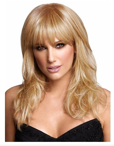 96a69cd76 € 22.69 |La moda del envío gratis pelucas peluca mujeres naturales  Hairpeice pelo rubio pelucas AAA para mujeres largo peluca belleza en de en  ...