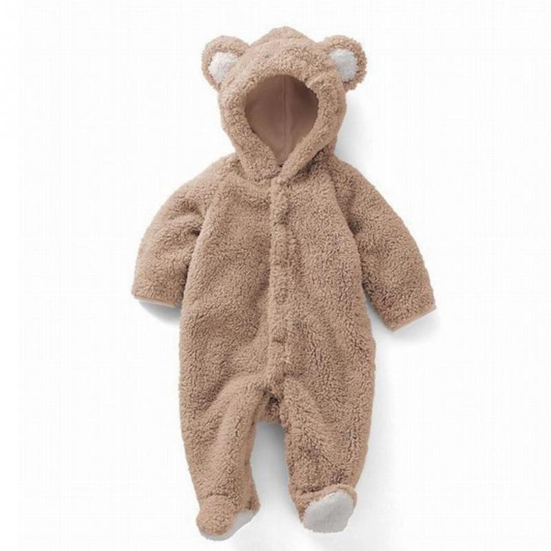 Newborn Infant Animal Bear Romper Baby Costume Hooded