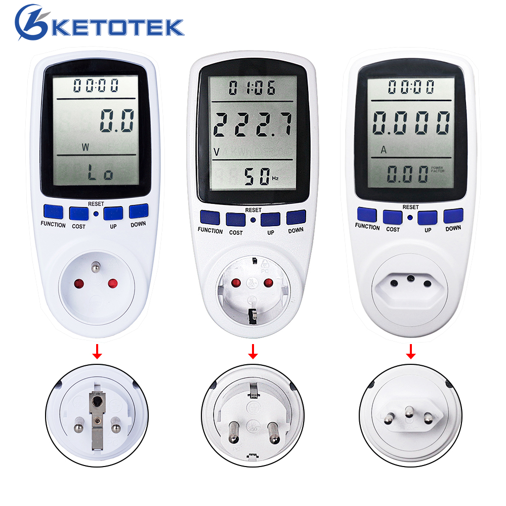 Digital Power Meter Plug Socket Energy Moniter Voltage Current Meter Wattmeter Analyzer Socket Electronic Power MeterDigital Power Meter Plug Socket Energy Moniter Voltage Current Meter Wattmeter Analyzer Socket Electronic Power Meter