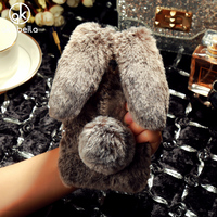 Fluffy Rabbit Fur Silicon Phone Cases For Huawei Honor 5C GT3 Honor 7 Lite GR5 Mini