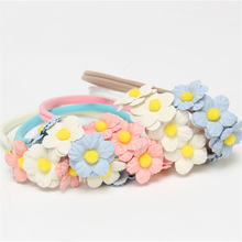 Newborn cotton Headband elasti soft Headband 5 Flower Hair Bow  Kids Hair Accessories Photography Prop