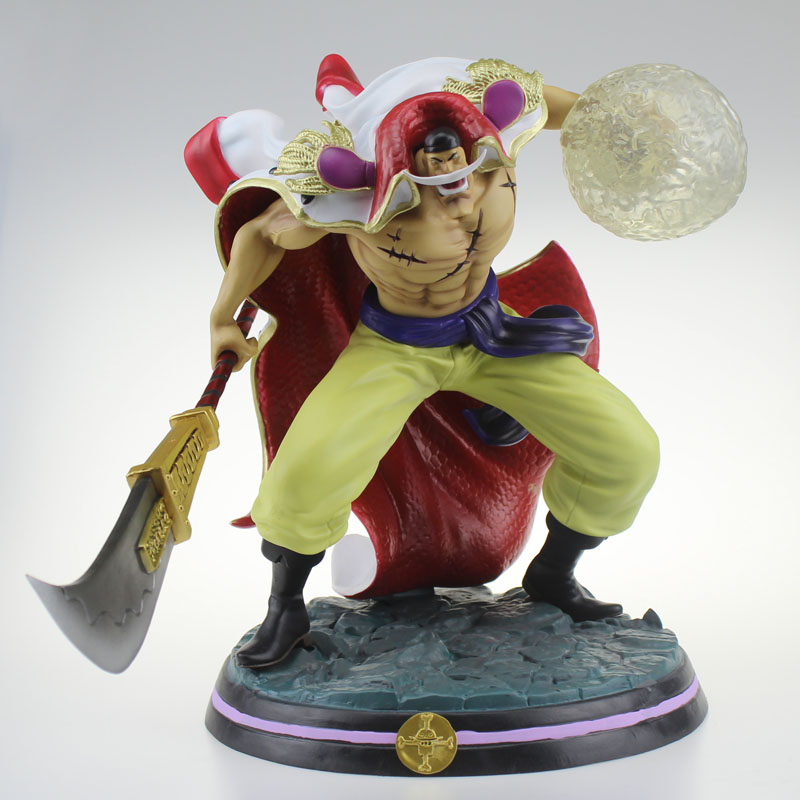 Super Big 12.5 One Piece Anime Whitebeard - Edward Newgate GK Ver. Boxed 32cm PVC Action Figure Collection Model Doll Toys Gift new anime one piece kaido four emperors edward newgate white beard big mom 24cm pvc action figure model doll toys in boxed
