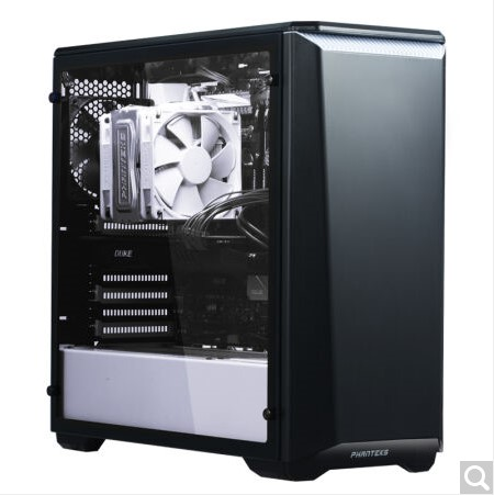 цена PHANTEKS 416PSC black and white tempered glass side through ATX tower chassis