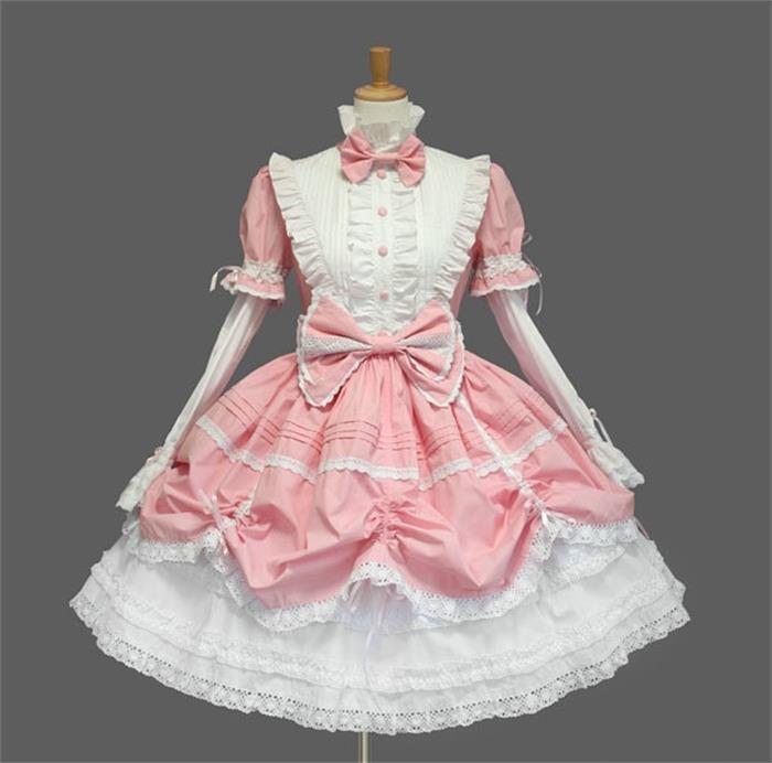 Robe Lolita gothique victorienne robe de princesse Halloween Costume Lolita Cosplay robe en couches pour femme de chambre jeux Cosplay - 3