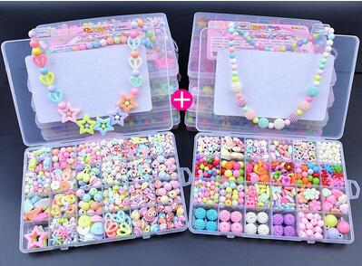 2sets Children creative DIY beads toy Kids girls handmade art craft educational toys for gifts and presents