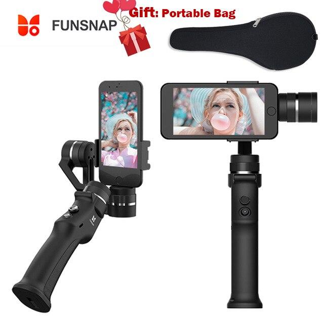 Smartphone Palmare Stabilizzazione Steadicam Giunto Cardanico Funsnap di Acquisizione Selfie Stabilizzatore per iphone 8 più di x 6 s xiaomi samsung s8